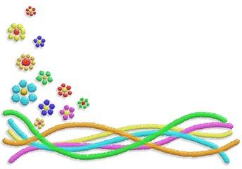 Fiori Astratti Brillantini-Abstract Glitter Flower Background
