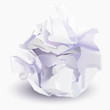 Crumpled sheet of paper to paper ball, vector illustration