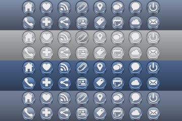 Web Site Inset Glossy Icons