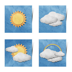 Weather recycled paper craft