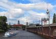 Berliner Skyline vom Boot aus