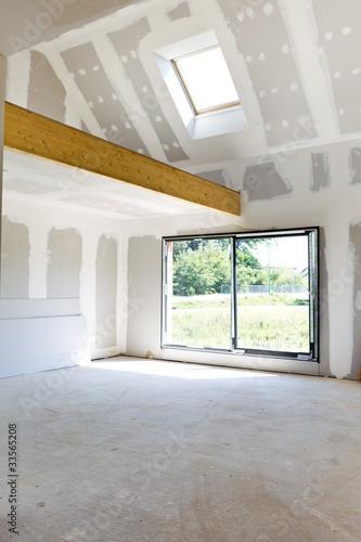 Construction maison avec mezzanine photo libre de droits for Espace chlorophylle