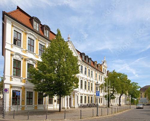 Das Landtagsgebäude am Domplatz in Magdeburg
