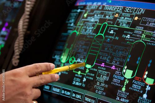 Leinwandbild Motiv control panel in factory