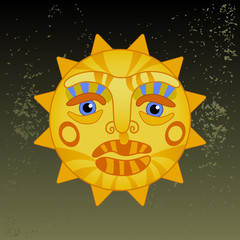 big hot gold sun