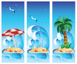 Set tropical banners. vector illustration