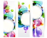 Set di tre banners - Set of three headers with bubbles
