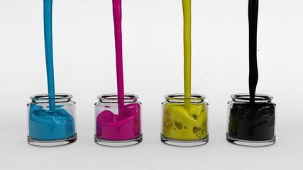 CMYK Paint Pots