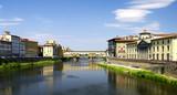 Florenz - die Stadt am Fluß-Arno poster