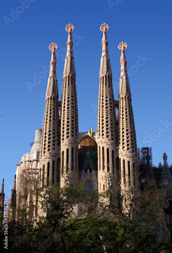 Sagrada Familia Gaudi ohne Kräne, Barcelona