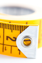 Metric tape closed-up
