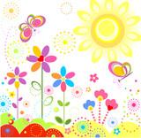 Fototapety Summer card