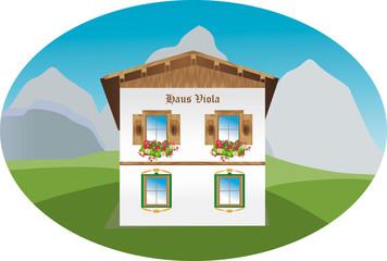 Haus in den Bergen