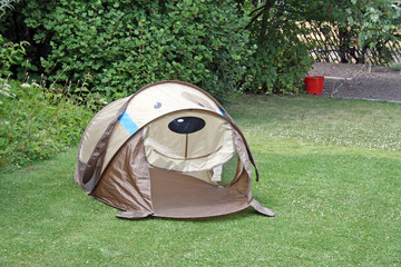 childs tent for camping summer time