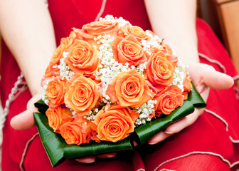 buoquet of roses-bouquet di rose arancio
