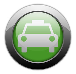 "Green Metallic Orb Button ""Taxi Cab"""