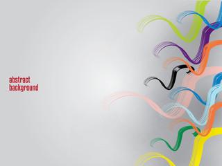 Sfondo astratto fili colorati