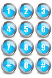Blue Numbers Buttons