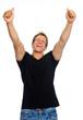 Victorious happy man