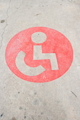 disabled sign, could be used as a logo