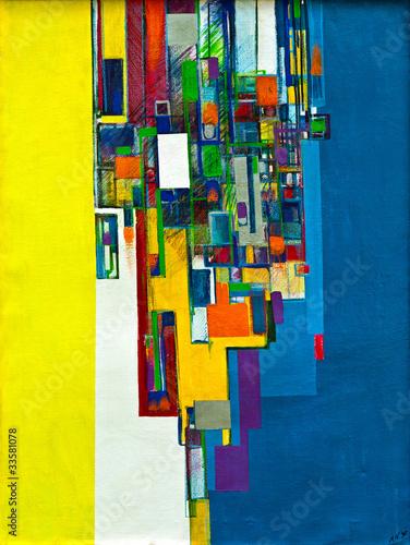 Fototapeta Abstract oil painting 02
