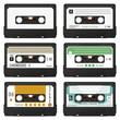 Audio, Kassetten, Audiokassetten, Tape, Set, Mix