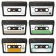 Musikkassetten, Audiokassetten, Tape, Set, Vorlage, Blanko