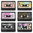 Musikkassetten, Audiokassettten, Partyflyer, Set, Mix, Vorlage