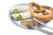 Weißwurst mit Senf und Breze