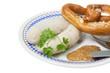 Weißwurst mit Breze und Senf