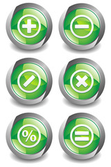 Math Symbol Green Button
