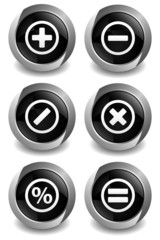 Math Symbol Black Button