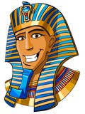 Egyptian pharaoh cartoon illustration