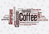 Fototapety Wordcloud of coffee