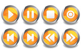 Music Button Orange