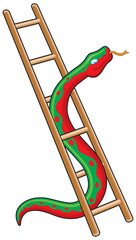 Snake and ladder vector illustration
