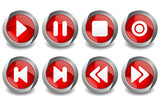 Music Button Red