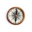 Leinwandbild Motiv Vintage brass compass with clipping path