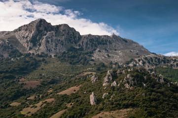 Sardinia, Italy: panorama of Monte Albo, near Siniscola.
