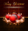 Elegant Merry Cristmas and Happy New Year background