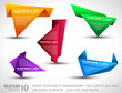 Origami triangle style speech Banner set