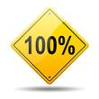 Señal amarilla texto 100%