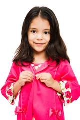 Smiling girl wearing dress