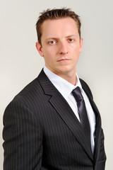 Caucasian man in suit