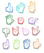 Hand sign sticker collection