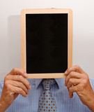 Mann mit Tafel - Man with Chalkboard