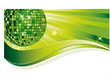 Grüne Discokugel mit Welle