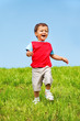 Joyful kid running