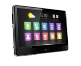 Digital tablet with touch  screen and icons