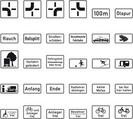 Verkehrszeichen Sammlung